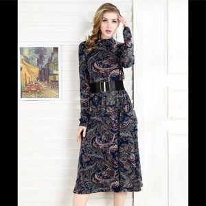 NWT💫Vintage retro floral bohemian dress
